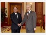 Tổng Bí thư Nguyễn Phú Trọng tiếp Đoàn đại biểu Quốc hội, Mặt trận Cam-pu-chia và Đoàn đại biểu Mặt trận Lào
