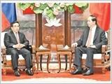Tổng Bí thư, Chủ tịch nước, Thủ tướng Chính phủ và Chủ tịch Quốc hội tiếp Phó Chủ tịch nước Lào Phăn-khăm Vị-phả-văn