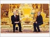 Tổng Bí thư Nguyễn Phú Trọng hội đàm với Quốc vương Nô-rô-đôm Xi-ha-mô-ni; hội kiến các nhà lãnh đạo Cam-pu-chia