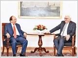 Thủ tướng Nguyễn Xuân Phúc hội kiến Tổng thống Đức P.Xtai-mai-ơ