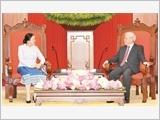 Tổng Bí thư Nguyễn Phú Trọng tiếp Chủ tịch Quốc hội Lào P.Y-a-tho-tu