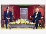 Tổng Bí thư Nguyễn Phú Trọng tiếp; Chủ tịch nước Trần Đại Quang đón, hội đàm với Tổng thống Ai Cập A.Xi-xi