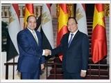 Thủ tướng Nguyễn Xuân Phúc, Chủ tịch Quốc hội Nguyễn Thị Kim Ngân hội kiến Tổng thống Ai Cập A.Xi-xi