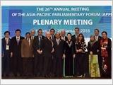 Bế mạc Hội nghị thường niên lần thứ 26 Diễn đàn Nghị viện châu Á - Thái Bình Dương