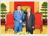 Tổng Bí thư Nguyễn Phú Trọng tiếp Chủ tịch Quốc hội Mông Cổ M.Ên-khơ-bon-đơ