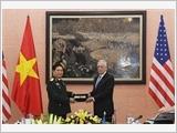 Bộ trưởng Bộ Quốc phòng Ngô Xuân Lịch chủ trì lễ đón và hội đàm với Bộ trưởng Quốc phòng Hoa Kỳ James Mattis