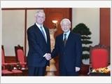 Tổng Bí thư Nguyễn Phú Trọng, Chủ tịch nước Trần Đại Quang tiếp Đoàn đại biểu Bộ Quốc phòng Hoa Kỳ