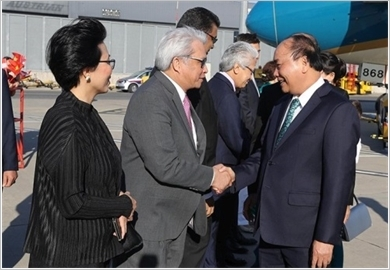 Thủ tướng Nguyễn Xuân Phúc và Phu nhân bắt đầu thăm chính thức Cộng hòa Áo
