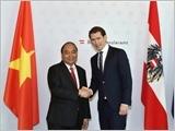 Thủ tướng Nguyễn Xuân Phúc hội đàm với Thủ tướng Áo G.Cuốt-xơ