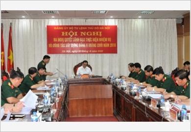 Lực lượng vũ trang Thủ đô phát huy vai trò nòng cốt trong xây dựng khu vực phòng thủ