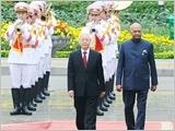 Tổng Bí thư, Chủ tịch nước đón, hội đàm; Thủ tướng Chính phủ, Chủ tịch Quốc hội hội kiến Tổng thống Ấn Độ R.Cô-vin