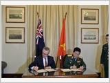 Việt Nam - Australia ký Tuyên bố tầm nhìn chung về thúc đẩy hợp tác quốc phòng