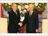 Tổng Bí thư, Chủ tịch nước Nguyễn Phú Trọng hội kiến Quốc vương Cam-pu-chia N.Xi-ha-mô-ni