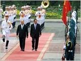 Tổng Bí thư, Chủ tịch nước Nguyễn Phú Trọng tiếp; Thủ tướng Nguyễn Xuân Phúc đón, hội đàm với Thủ tướng Cam-pu-chia Hun Xen