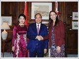Thủ tướng Nguyễn Xuân Phúc hội đàm với Thủ tướng Niu Di-lân G.A-đơn; hội kiến Chủ tịch Quốc hội T.Man-lát