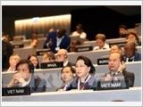 Chủ tịch Quốc hội Nguyễn Thị Kim Ngân dự Phiên họp toàn thể Đại hội đồng IPU-138