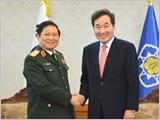 Bộ trưởng Ngô Xuân Lịch tiếp kiến Thủ tướng Hàn Quốc