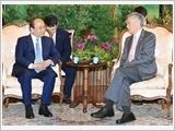 Thủ tướng Nguyễn Xuân Phúc hội đàm với Thủ tướng Xin-ga-po Lý Hiển Long