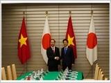 Chủ tịch nước Trần Đại Quang hội đàm với Thủ tướng Shinzo Abe