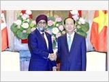 Chủ tịch nước Trần Ðại Quang tiếp Bộ trưởng Quốc phòng Ca-na-đa