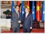 Thủ tướng Nguyễn Xuân Phúc tiếp Chủ tịch Quốc hội Liên bang Mi-crô-nê-xi-a