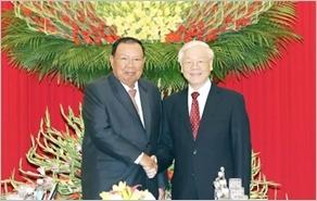 Tổng Bí thư hội đàm; Chủ tịch nước, Thủ tướng Chính phủ, Chủ tịch Quốc hội hội kiến Tổng Bí thư, Chủ tịch nước Lào