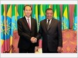 Chủ tịch nước Trần Ðại Quang hội đàm với Tổng thống Ê-ti-ô-pi-a M.Tê-sô-mê