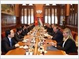 Tổng Bí thư Nguyễn Phú Trọng hội đàm với Thủ tướng Hungary Viktor Orban