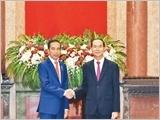 Chủ tịch nước Trần Đại Quang đón, hội đàm với Tổng thống In-đô-nê-xi-a G.Uy-đô-đô