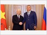 Tổng Bí thư Nguyễn Phú Trọng hội kiến các nhà lãnh đạo Nga