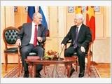 Tổng Bí thư Nguyễn Phú Trọng tiếp Chủ tịch Đảng Cộng sản Liên bang Nga