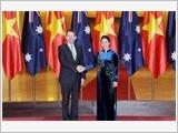 Thủ tướng Nguyễn Xuân Phúc tiếp; Chủ tịch Quốc hội Nguyễn Thị Kim Ngân đón, hội đàm với Chủ tịch Thượng viện Ô-xtrây-li-a X.Rai-ân