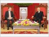 Tổng Bí thư, Chủ tịch nước Nguyễn Phú Trọng tiếp Chủ tịch Thượng viện Ô-xtrây-li-a X.Rai-ân
