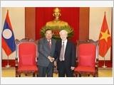 Tổng Bí thư, Chủ tịch nước Nguyễn Phú Trọng tiếp; Chủ tịch Quốc hội Nguyễn Thị Kim Ngân hội kiến Tổng Bí thư, Chủ tịch nước Lào Bun-nhăng Vo-la-chít