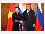 Chủ tịch Quốc hội Nguyễn Thị Kim Ngân dự, phát biểu tại phiên họp toàn thể Hội đồng Liên bang Nga