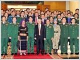 Tổng Bí thư, Chủ tịch nước Nguyễn Phú Trọng gặp mặt các điển hình tiên tiến trong xây dựng nền quốc phòng toàn dân vững mạnh