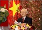 Tổng Bí thư, Chủ tịch nước Nguyễn Phú Trọng chúc Tết lãnh đạo Đảng, Nhà nước, đồng bào, chiến sỹ cả nước