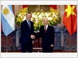 Tổng Bí thư, Chủ tịch nước đón, hội đàm; Thủ tướng Chính phủ, Chủ tịch Quốc hội hội kiến Tổng thống Ác-hen-ti-na
