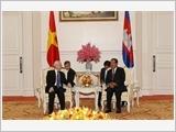 Tổng Bí thư, Chủ tịch nước Nguyễn Phú Trọng hội kiến Thủ tướng Cam-pu-chia Hun Xen, Chủ tịch Thượng viện Xai Chum và Chủ tịch Quốc hội Hêng Xom-rin