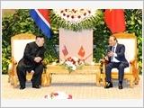 Thủ tướng Nguyễn Xuân Phúc và Chủ tịch Quốc hội Nguyễn Thị Kim Ngân hội kiến Chủ tịch Triều Tiên Kim Châng Ưn