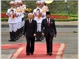 Tổng Bí thư, Chủ tịch nước Nguyễn Phú Trọng đón, hội đàm; Thủ tướng Nguyễn Xuân Phúc hội kiến Quốc vương Bru-nây Đa-rút-xa-lam H.Bôn-ki-a