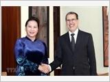 Chủ tịch Quốc hội Nguyễn Thị Kim Ngân hội kiến Thủ tướng Vương quốc Maroc