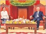 Tổng Bí thư, Chủ tịch nước Nguyễn Phú Trọng, Thủ tướng Nguyễn Xuân Phúc tiếp; Chủ tịch Quốc hội Nguyễn Thị Kim Ngân hội đàm với Chủ tịch Quốc hội Lào Pa-ny Y-a-tho-tu