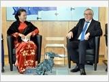 Chủ tịch Quốc hội Nguyễn Thị Kim Ngân hội kiến Chủ tịch Ủy ban châu Âu