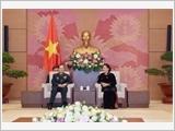 Chủ tịch Quốc hội Nguyễn Thị Kim Ngân tiếp Bộ trưởng Bộ Quốc phòng Trung Quốc