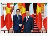 Thủ tướng Nguyễn Xuân Phúc đón, hội đàm; Chủ tịch Quốc hội Nguyễn Thị Kim Ngân hội kiến Thủ tướng I-ta-li-a G.Côn-tê