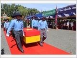Hồi hương hài cốt liệt sĩ quân tình nguyện và chuyên gia Việt Nam hy sinh tại Campuchia