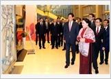 Chủ tịch Quốc hội Nguyễn Thị Kim Ngân và Chủ tịch Nhân đại Trung Quốc Lật Chiến Thư dự Ngày văn hóa Việt Nam tại Trung Quốc