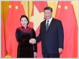 Chủ tịch Quốc hội Nguyễn Thị Kim Ngân hội kiến các nhà lãnh đạo Trung Quốc