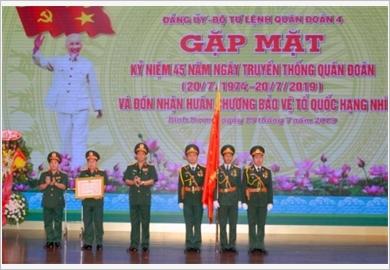 Quân đoàn 4 đón nhận Huân chương Bảo vệ Tổ quốc hạng Nhì